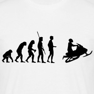 Snowmobile Evolution  Camisetas - Camiseta hombre