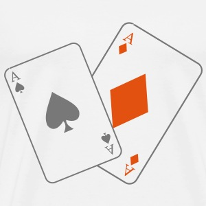 ate, aces, black jack, poker, cards, leaving few, ass T-Shirts - Men's Premium T-Shirt