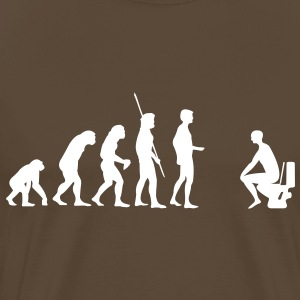 Evolution Toilette - Männer Premium T-Shirt
