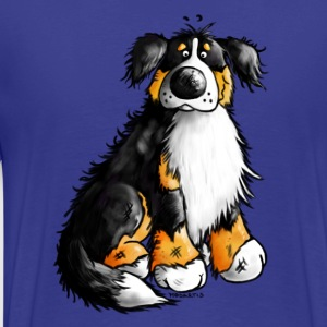Bernese Mountain Dog - cartoon- T-shirt design T-Shirts - Men's Premium T-Shirt