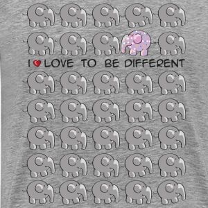 I love to be different - elephant T-Shirts - Männer Premium T-Shirt