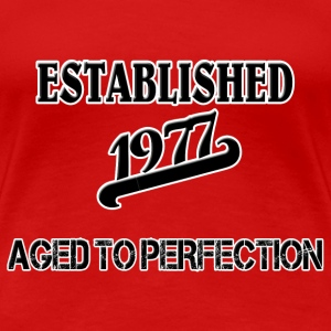 Established 1977 T-shirts - Dame premium T-shirt