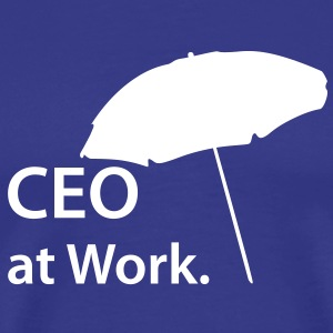 CEO at Work, Beach, Strand, Boss, Spring - Men's Premium T-Shirt