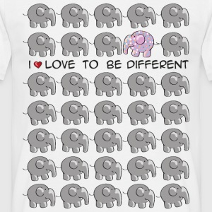 I love to be different - elephant T-Shirts - Männer T-Shirt