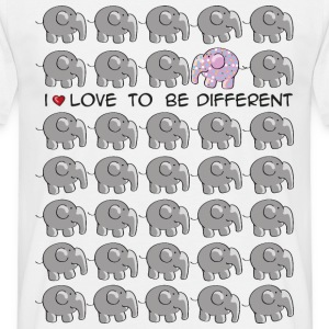 I love to be different - elephant T-shirts - Mannen T-shirt