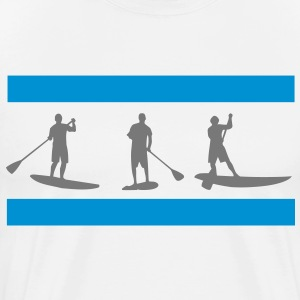 Sup, standing paddling, surfing, surfing, Supen, Stand up paddle surfing T-shirts - Men's Premium T-Shirt