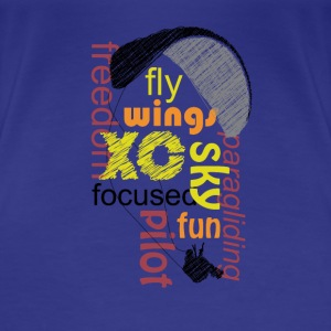 Paraglider Wordcloud T-Shirts - Women's Premium T-Shirt