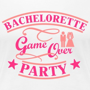 Bachelorette Game Over T-shirts - Vrouwen Premium T-shirt