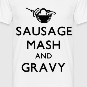 Sausage Mash and Gravy T-Shirt - Men's T-Shirt
