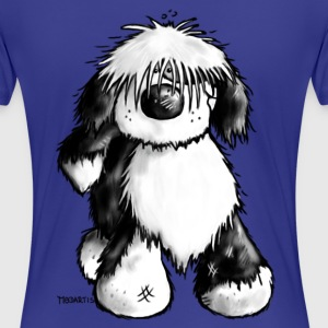 Tibetan Terrier- dog cartoon - t- shirt design T-Shirts - Women's Premium T-Shirt