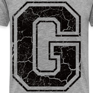 Letter G in the grunge look T-Shirts - Men's Premium T-Shirt