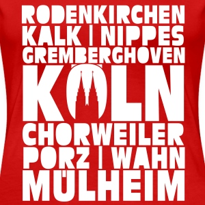 Köln Stadtteile Shirt for Girls - Frauen Premium T-Shirt