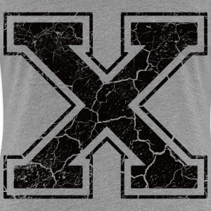 Letter X in grunge look T-Shirts - Women's Premium T-Shirt