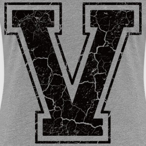 Letter V in grunge look T-Shirts - Women's Premium T-Shirt