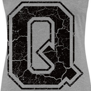 Letter Q in the grunge look T-Shirts - Women's Premium T-Shirt