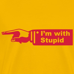 im with stupid shirt - Mannen Premium T-shirt