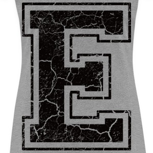 Letter E in the grunge look T-Shirts - Women's Premium T-Shirt