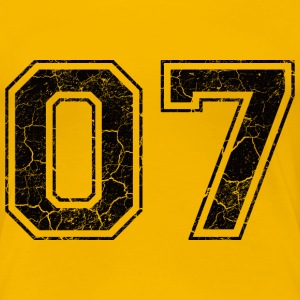 Number 07 in the grunge look T-Shirts - Women's Premium T-Shirt