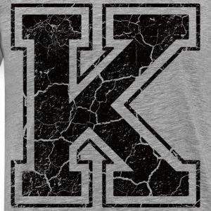 Letter K in the grunge look T-Shirts - Men's Premium T-Shirt