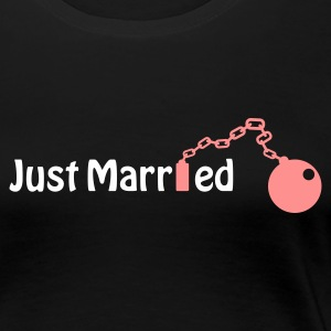 Just Married (honeymoon, newlyweds) T-Shirts - Frauen Premium T-Shirt