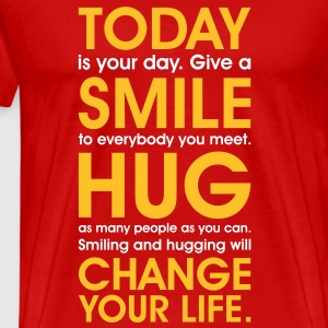 Smiley face clothing Free Hugs T-Shirts meditation - Men's Premium T-Shirt