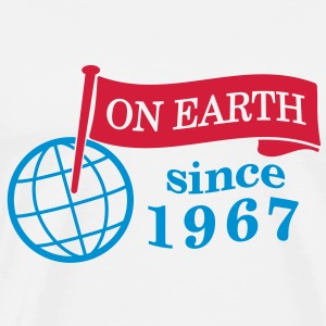 flag on earth since 1967  2c (dk) T-shirts - Herre premium T-shirt