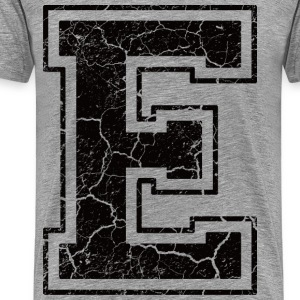 Letter E in the grunge look T-Shirts - Men's Premium T-Shirt