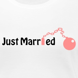 Just Married (honeymoon, newlyweds) T-skjorter - Premium T-skjorte for kvinner