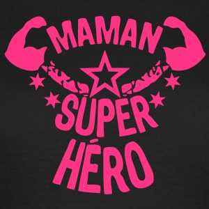 maman super hero etoile muscle bras star Tee shirts - T-shirt Femme