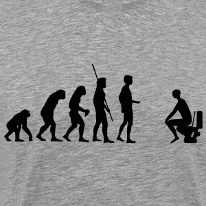 Evolutie wc  T-shirts - Mannen Premium T-shirt