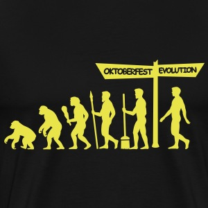 Evolution backwards Oktoberfest  T-Shirts - Men's Premium T-Shirt