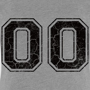 Number 00 in the grunge look T-Shirts - Women's Premium T-Shirt