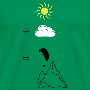 Paragliding calculation T-shirts - Mannen Premium T-shirt