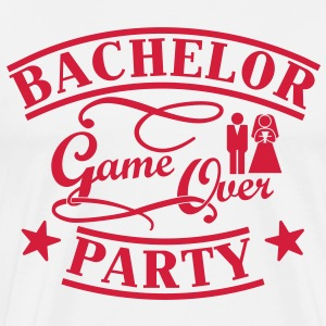 Bachelor Game Over T-shirts - Herre premium T-shirt
