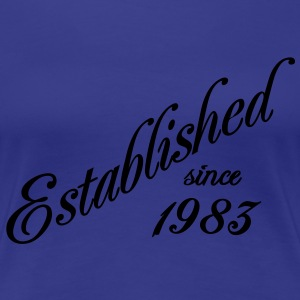 Established since 1983 T-shirts - Dame premium T-shirt
