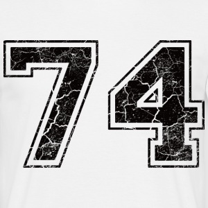Number 74 in the grunge look T-Shirts - Men's T-Shirt