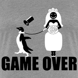 Game Over Penguin T-Shirts - Women's Premium T-Shirt