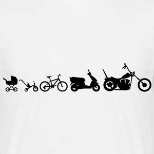 Motorcykel Evolution Chopper  T-shirts - Herre-T-shirt