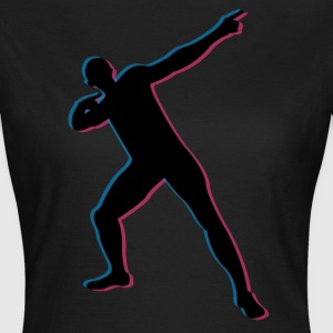 Usian Bolt in 3D T-Shirts - Women's T-Shirt