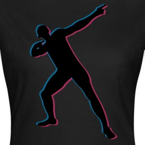 Usian Bolt in 3D T-shirts - Vrouwen T-shirt