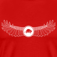 Design ~ Banoop Logo with Wings - Mens T-Shirt - Red