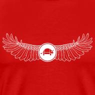 Design ~ Banoop Logo with Wings - Mens T-Shirt - Red