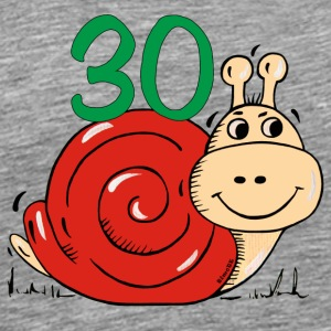 Snail 30 th birthday T-Shirts - Men's Premium T-Shirt