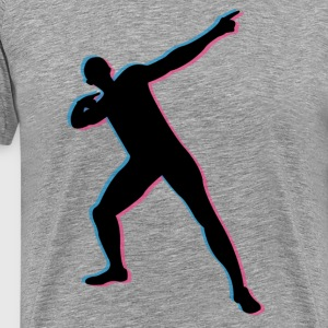 Usian Bolt in 3D T-shirts - Herre premium T-shirt
