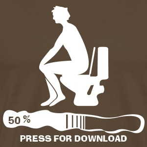 Press for Download T-shirts - Mannen Premium T-shirt