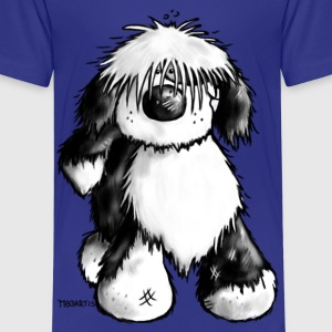 Tibetan Terrier- dog cartoon - t- shirt design Shirts - Kids' Premium T-Shirt