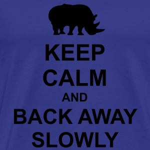 Keep Calm and Back Away Slowly - Men's Premium T-Shirt