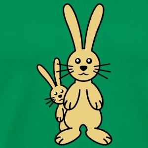 mom_and_baby_bunny T-shirt - Maglietta Premium da uomo