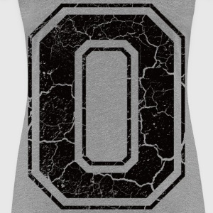 Letter O in the grunge look Camisetas - Camiseta premium mujer