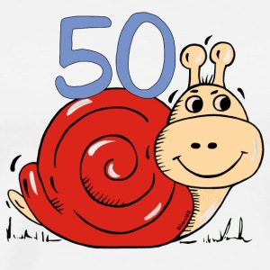 Snail 50 th birthday T-Shirts - Men's Premium T-Shirt
